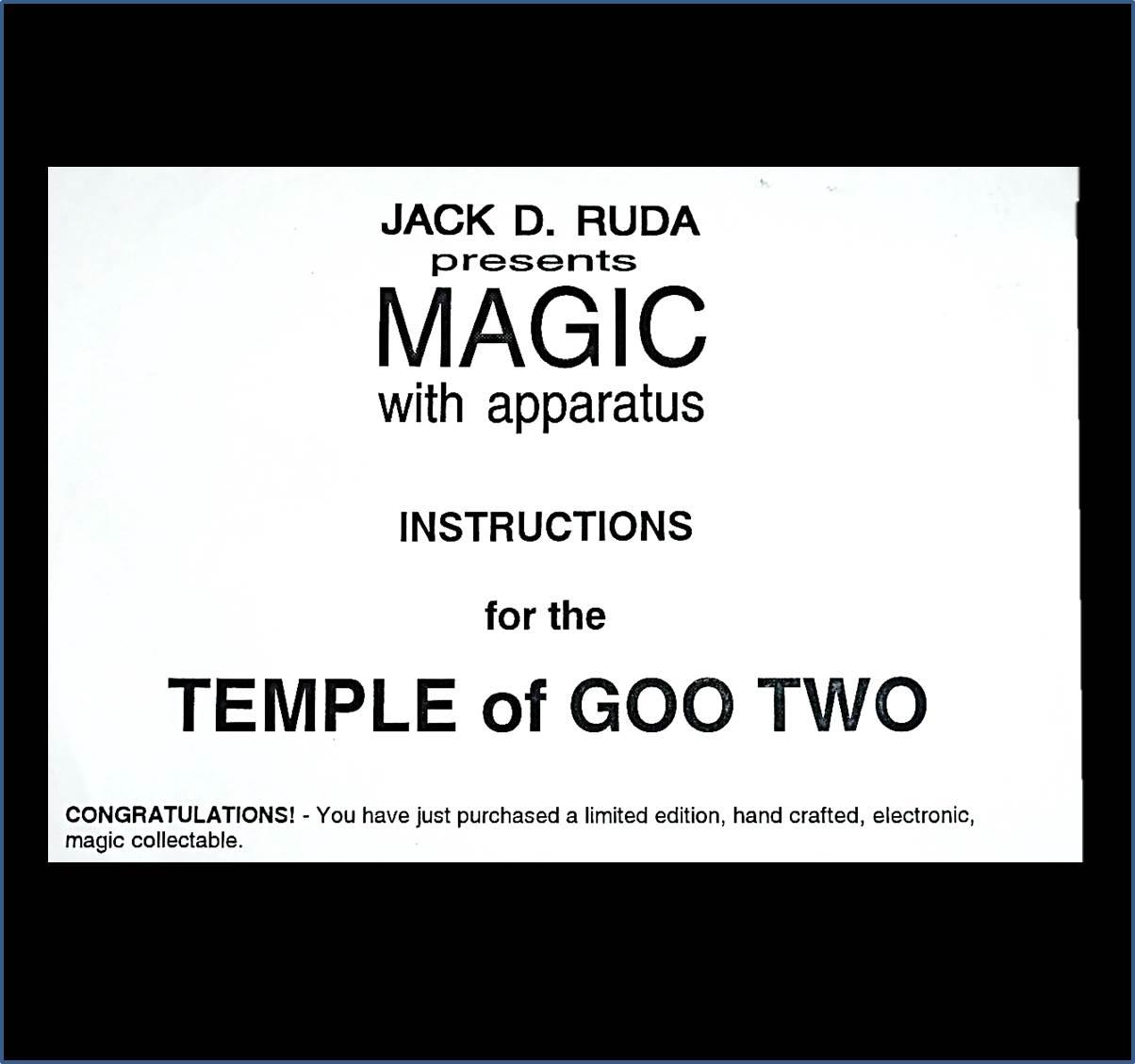 Temple of Goo Jack D. Ruda